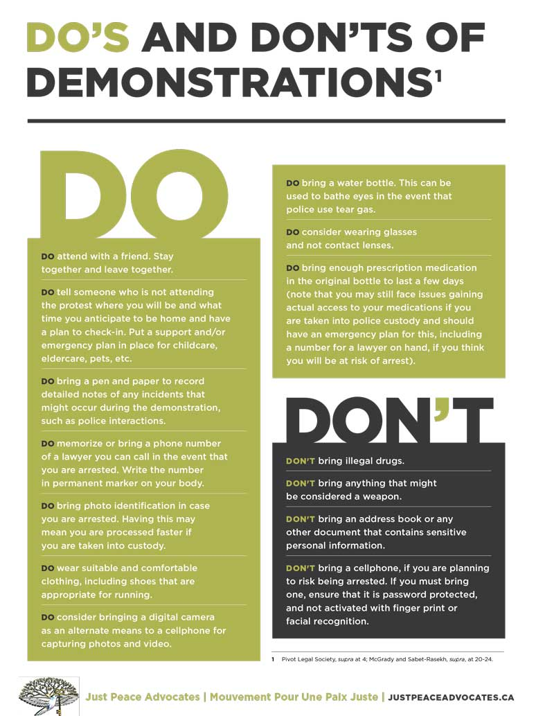 Dos and Dont of Demonstrations