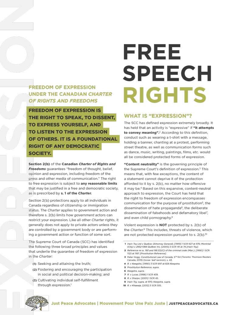 Free Speech Rights