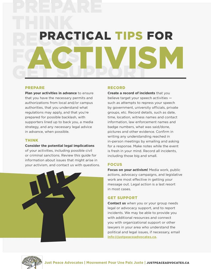 Practical Tips for Activism