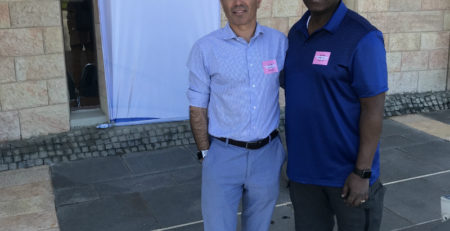 Friends of Simon Wiesenthal Centre CEO Avi Benlolo, left, and Toronto Police Services Chief Mark Saunders visit Jerusalem in July.